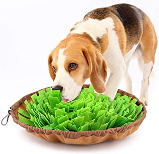 ノーズワークマット 犬用 おもちゃ Pawaboo 犬用早食い防止 マット ペット用訓練毛布 折りたたむ ゆっくり食べる 嗅覚訓練 遊び 餌マット 知育マット 注意力トレーニング 肥満/分離不安/食いちぎる対策 大中小型犬に Grass Green