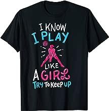 Volleyball T-Shirt Beach Ball Tshirt Play Like A Girl Gift