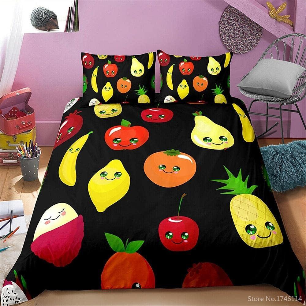 Full Duvet Covers Dealing full price reduction Fruit 3D Printing 1 Comforter Under blast sales Cover inch 80x90