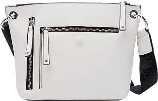 s.Oliver Damen Shoulder Bag mit Zippern cream 1