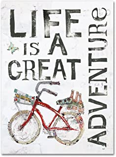 Life is a Great Adventure by Kellie Day, 18x24-Inch Canvas Wall Art