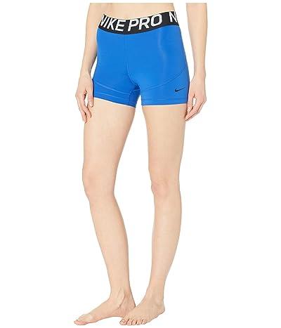 Nike Pro Shorts 3 (Game Royal/Black/Black) Women