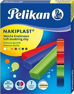 comprar comparacion Pelikan Pasta de modelar Nakiplast, 7 colores surtidos, hecho en Alemania de alta calidad y seguridad, cera de abejas natu...