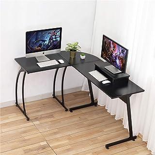 مكتب الكمبيوتر، كمبيوتر محمول دوسبيس على شكل حرف L زاوية كبيرة الكمبيوتر المحمول، طاولة دراسة، مكتب ألعاب للمكتب والمنزل و...