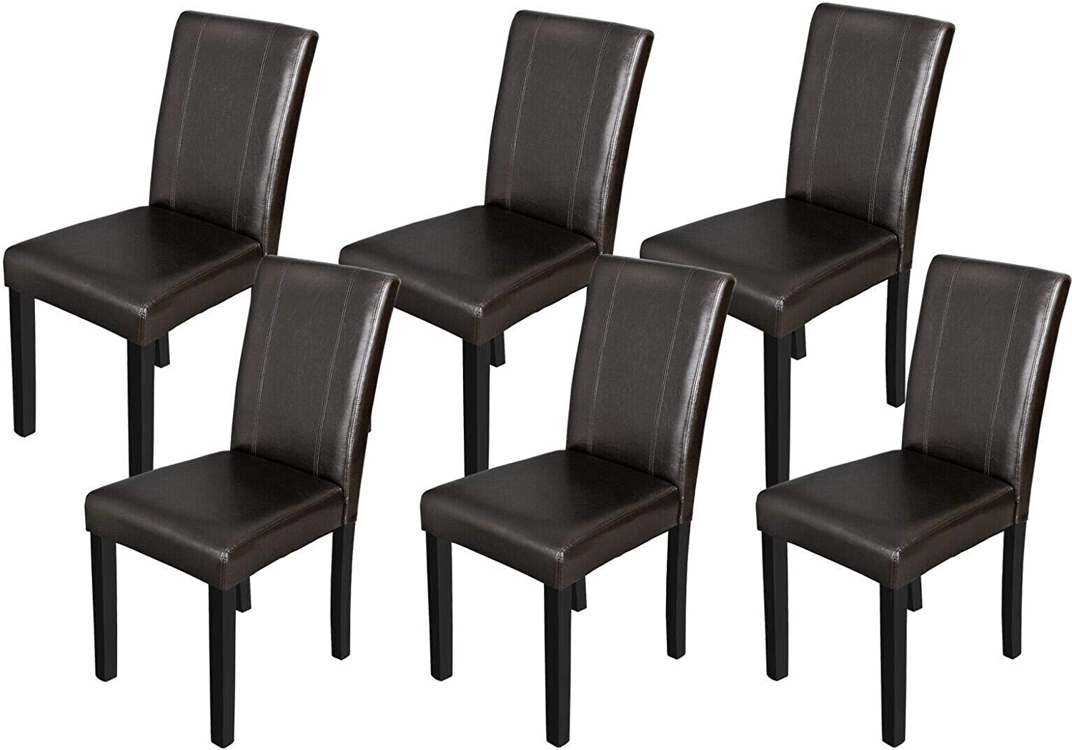 6 Set Brown Max 59% OFF Kitchen Formal Elegant Parson Lea Room Branded goods Chairs Dining