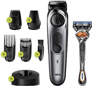 Braun BT7240 Baardtrimmer En Haartrimmer Voor Mannen, 39 Lengte-instellingen, Zwart/Metaalgrijs