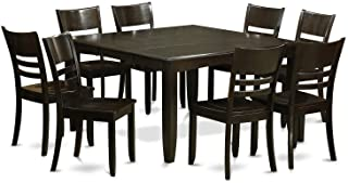 PFLY9-CAP-W 9 PC Dining room set-Kitchen Table with Leaf and 8 Kitchen Chairs.