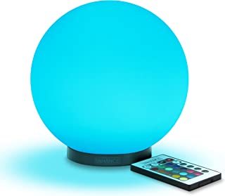 ENHANCE Kid's Night Light Ambient Globe LED Color Changing Lamp Glass Mood Lamp 5.9 inch - Wireless Remote Control, 4 Lighting Modes & Battery or AC Adapter Power - Great for Children & Babies