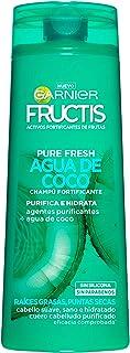 Garnier Fructis Pure Fresh Agua de Coco Champú Pelo Normal con raíces grasas y puntas secas - 300 ml paquete de 6