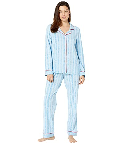 BedHead Pajamas Long Sleeve Classic Notch Collar Pajama Set (Citizen Stripe) Women
