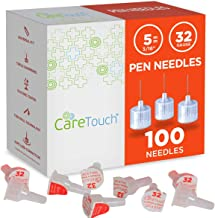 Care Touch Pen needle 32G 3/16-5mm 100ct