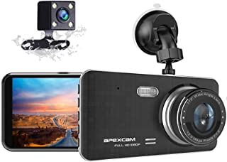 """Dash Cam for Car Front Rear Dual Car Camera 4"""" IPS 1080 Driving Recorder 170°Wide Angle with Backup Camera,G-Sensor, WDR L..."""