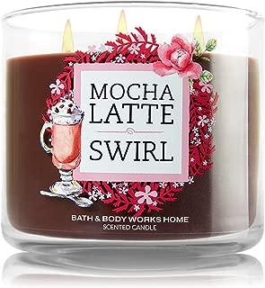 Bath & Body Works Candle 3 Wick 14.5 Ounce Mocha Latte Swirl