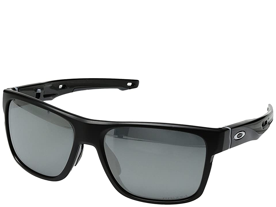 Oakley Crossrange (Matte Black w/ Prizm Black Polarized) Fashion Sunglasses
