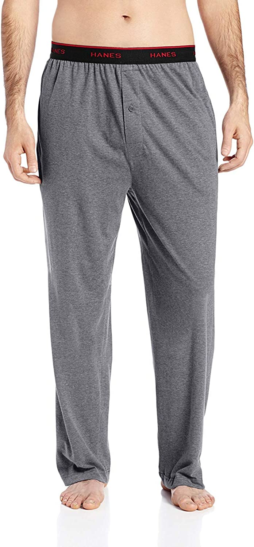 Hanes Men's Big and Tall Big & Tall Knit Pant W/Set-on Striped Elastic