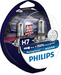 Philips RacingVision H7 Headlight Bulbs (Twin) 12972RVS2 Xtreme Vision Upgrade