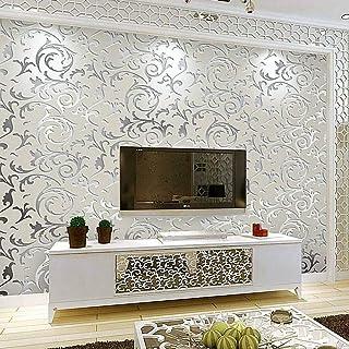 comprar comparacion Papel Pintado No Tejido 3D Papel de Pared Diseño Barroco Impermeable Resistente a la Humedad para Sala de Estar Habitación...