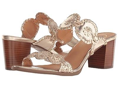 Jack Rogers Lauren Mid Heel (Platinum/Platinum) Women