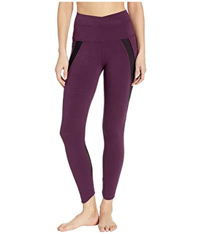 Hard Tail Crossover Waist Duo Pocket 7/8 Leggings (Jam) Women