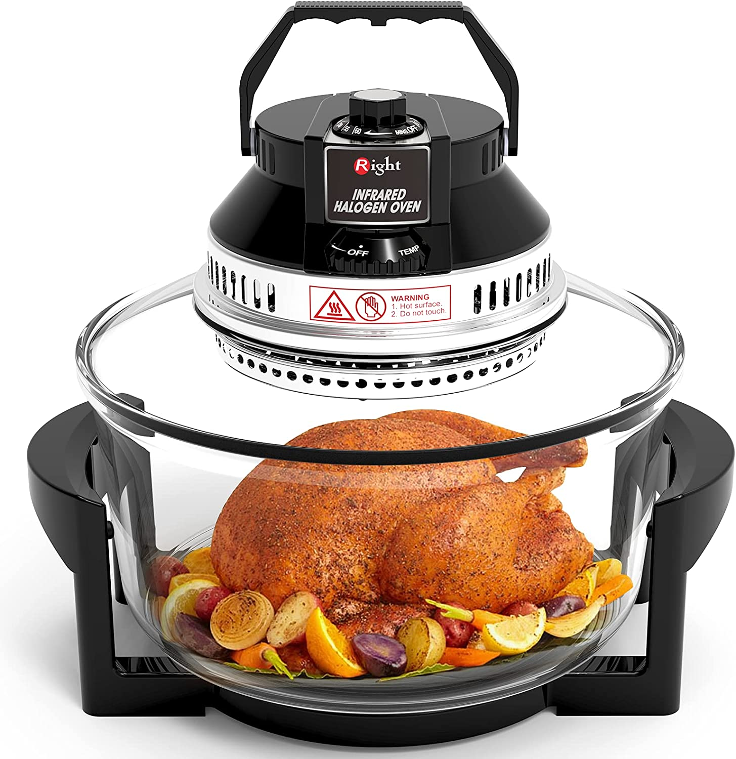 Oil Free Air Fryer RIGHT Large Infrared Halogen Convection Oven 19 Quart