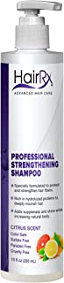 HairRx Professional Strengthening Shampoo with Pump, Light Lather, Citrus Scent, 10 Ounce