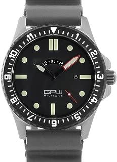 German Military Titanium Watch. GPW GMT. Grey Field Rubber Strap. Sapphire Crystal. 200M W/R.