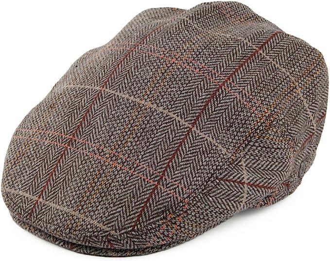 1930s Style Mens Hats and Caps Jaxon & James Tweed Flat Cap - Brown-Grey £19.95 AT vintagedancer.com