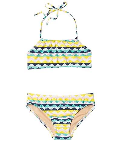 Toobydoo Fun Pattern Bandeau Halter Bikini (Infant/Toddler/Little Kids/Big Kids) (Multi) Girl
