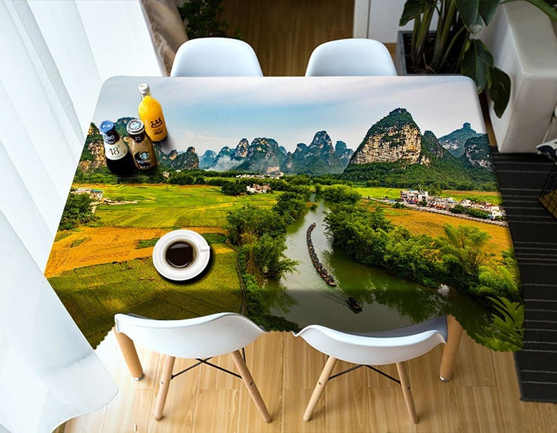 calidad garantizada Qiao jin Manteles Mantel Rectangular - Mantel Personalizado Personalizado Personalizado en 3D PG01062 - Ambientalmente y sin Sabor - Impermeable de impresión Digital (Tamaño   Square -216cm216cm)  venta caliente