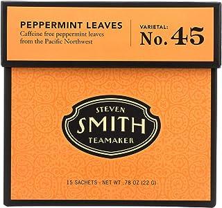 Smith Teamaker Herbal Tea - Peppermint - 15 Bags - Gluten Free - Dairy Free - Yeast Free - Wheat Free - Vegan