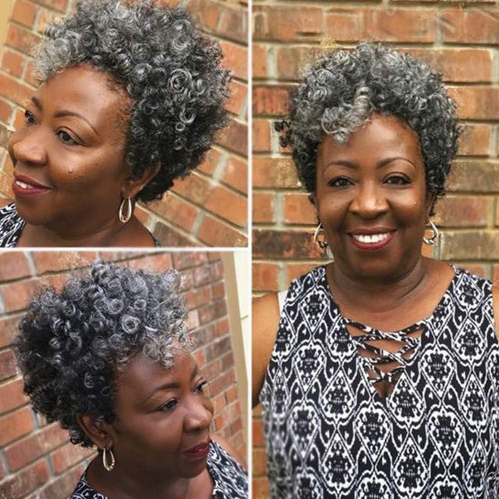MIMAN Miman 3 Packs 3 Inch Short Saniya Curl Crochet Hair for Black Women  Bouncy Crochet Braids Synthetic Braiding Hair (Grey)