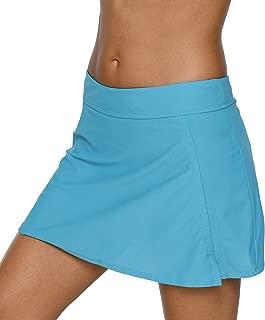 Womens Swim Skirt Bathing Suit Skirted Swimsuit Bottom with Brief Solid Swim Short
