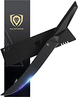 Dalstrong Robustes Kochmesser mit Klingenschutz - 25 cm - Shadow Black Series - aus Deutschem Edelstahl beschichtet mit schwarzem Titannitrid