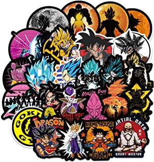 100Pcs Dragon Ball Z Laptop Stickers Anime Waterproof Stickers for Skateboard Luggage Helmet Guitar Super Z Sticker