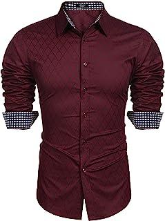 COOFANDY پیراهن آستین بلند مردانه آستین بلند و باریک و دکمه ای گاه به گاه پیراهن