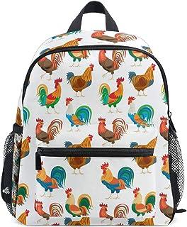 Gallos Colorido Pollo Mochila para Preescolar Niñas Niños Toddler Kids Estudiante Mochilas para Infantiles 1-6 Años
