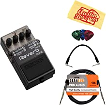 Boss RV-6 Reverb Bundle with Instrument Cable, Patch Cable, Picks, and Austin Bazaar Polishing Cloth