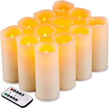 Flameless Candles Flickering LED Candles Set of 12 (D:2.2