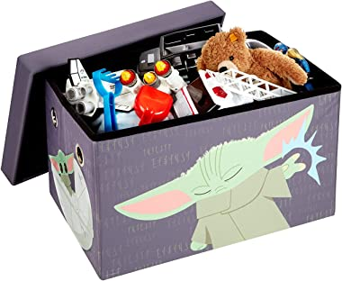 FHE Disney Star Wars Mandalorian The Child Kids' Storage Ottoman Bench Chest, 24 x 15 x 15 in, Sturdy Fabric, Collapsible, Ea