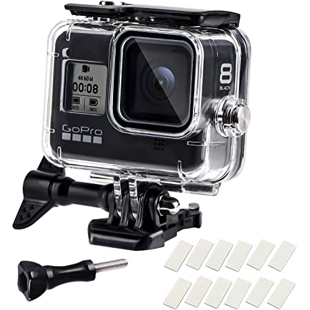 【Soft Button】 FitStill Waterproof Case for GoPro Hero 8 Black Protective Underwater 10M Dive Housing Shell with Bracket Accessories for Go Pro Hero8 Action Camera