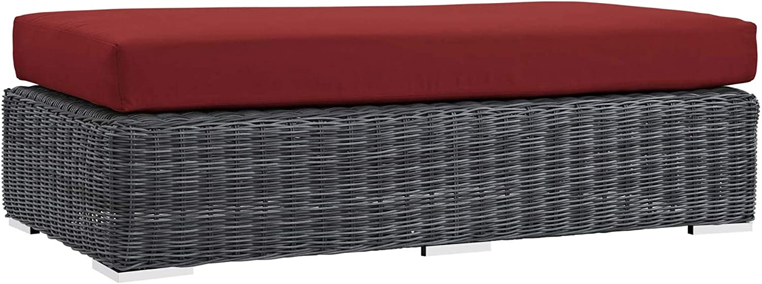 Ergode Summon Special price for a limited time Outdoor Patio Sunbrella Canvas - Rectangle Ottoman Max 90% OFF