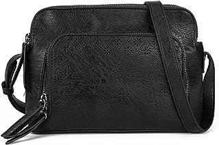 Gladdon Damen Kleine Umhängetasche, Handtaschen mit Reißverschluss Schultertasche,Messenger bag Multi-Pocket Taschen mit a...