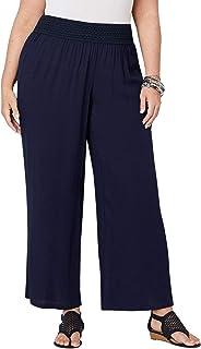 Avenue Women's Crinkle Gauze Wide Leg Pants
