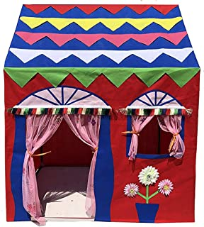 Homecute Hut Type Kids Toys Jumbo Size Play Tent House for Boys and Girls Red-Blue