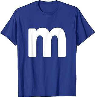 Letter m Shirt lower case alphabet matching Halloween Gift T-Shirt