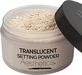 Aesthetica Translucent Setting Powder – Matte Finishing Makeup Loose Setting Powder – Flash Friendly Translucent Powder Foundation - Loose Face Powder Includes Velour Puff