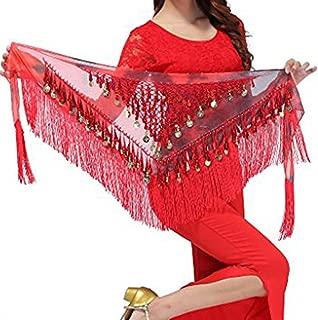 Belly Dancing Belt Colorful Waist Belly Dance Hip Scarf Belt Triangle Skirt