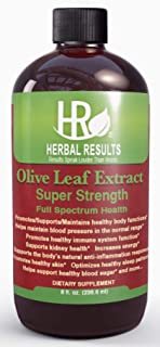Herbal Results Olive Leaf Extract-Multiple Health Remedies-Super Strength 8 Ounce Liquid