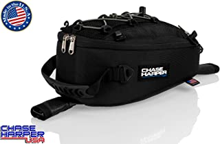 Chase Harper USA 450 Strap Mount Tank Bag - Water-Resistant, Tear-Resistant, Industrial Grade Ballistic Nylon with Anti-Scratch Rubberized Polymer Bottom, Adjustable strap mounting