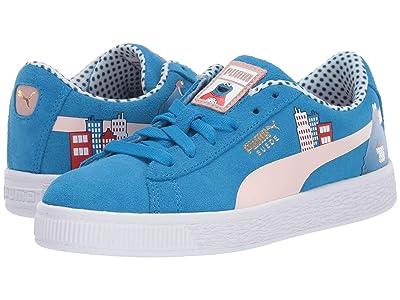 Puma Kids Sesame STR 50 Suede (Little Kid) (Indigo Bunting/Veiled Rose) Kids Shoes